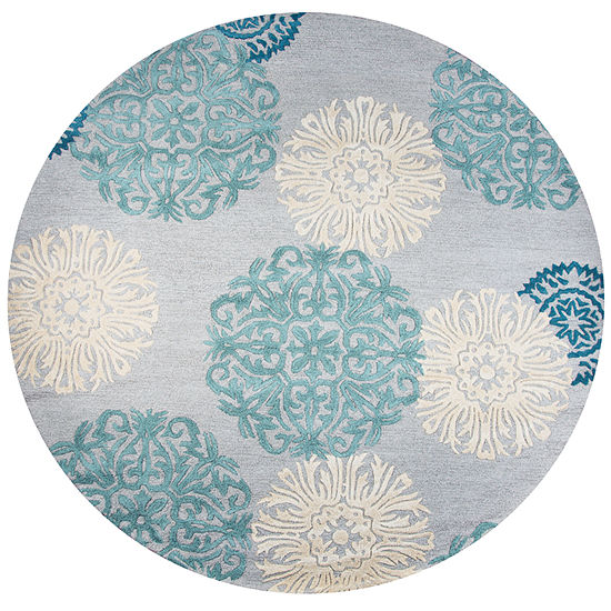 Rizzy Home Dimensions Medallion Round Indoor Rugs