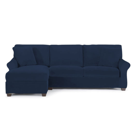 Fabric Possibilities Roll Arm 2-Pc Left Arm Chaise/Loveseat Sectional
