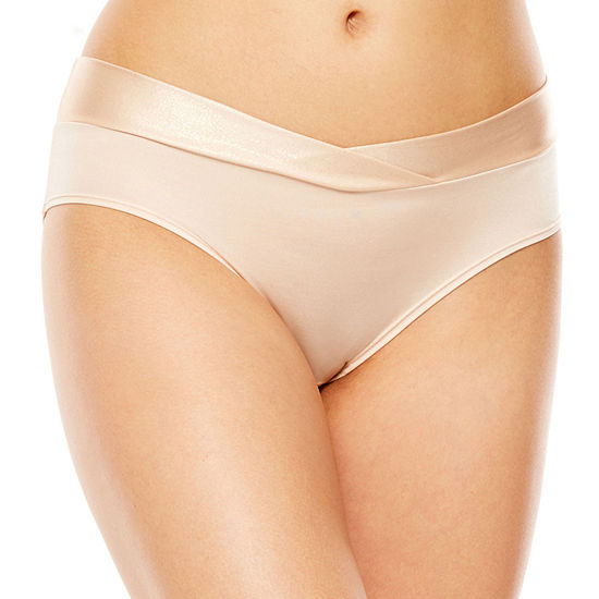Ambrielle® Seamless Sparkle Trim Hipster Panty