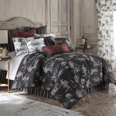 Toile Back In Black Comforter Set