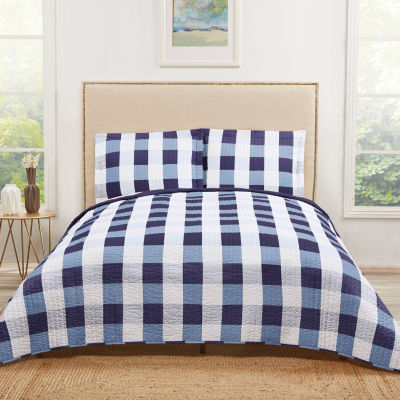 Truly Soft Everyday Buffalo Check Quilt Set