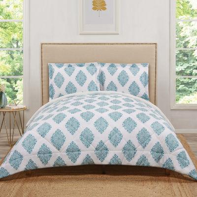 Truly Soft Everyday Annika Damask + Scroll Lightweight Reversible Comforter Set