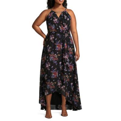 Melrose Sleeveless Floral Maxi Dress-Plus