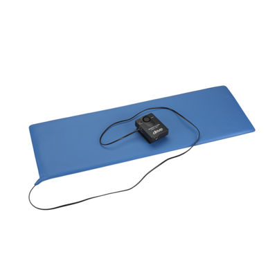 "Drive Medical Pressure Sensitive Bed Chair Patient Alarm, with Reset Button, 11"" x 30"" Bed Pad"