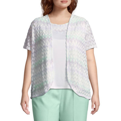 Alfred Dunner Roman Holiday Biadere Layered Blouse- Plus