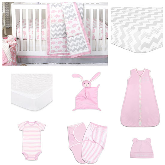 The Peanut Shell Ellie Pretty Crib Bedding Set