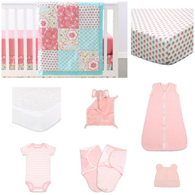 The Peanut Shell Gia Crib Bedding Set