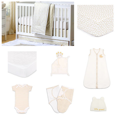 The Peanut Shell All That Glitters Crib Bedding Set