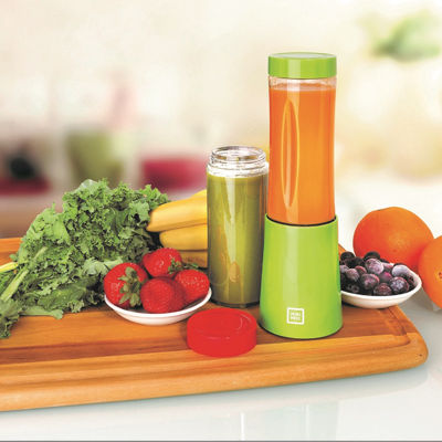 Euro Cuisine MM2G Personal Blender With 2 - 10OZ Tritan Bottles - Green
