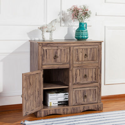 Simplicity Storage Cabinet with 1 Door 4 Drawers