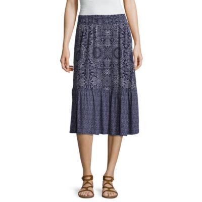 St. John's Bay Print Mix Skirt - Tall 27