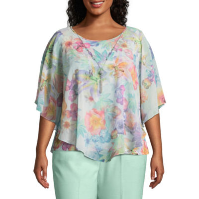 Alfred Dunner Roman Holiday Botanical Overlay- Plus