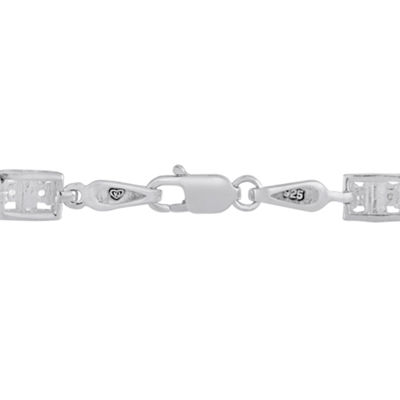 1 CT. T.W. White Diamond Sterling Silver Tennis Bracelet