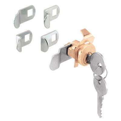 Prime Line U9940 5 Cam Brass Plated Diecast SteelMail Box Lock