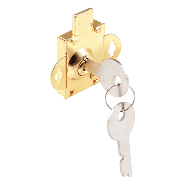 "Prime Line S4086 1/2"" Bolt Brass Plated Mail Box Lock"""