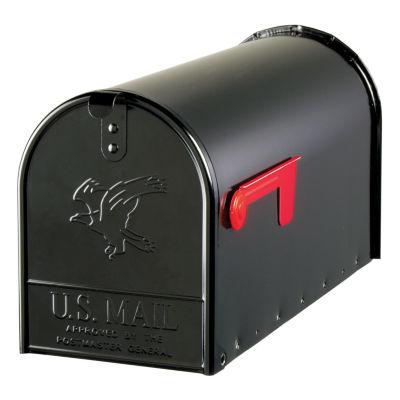 Solar Group E16B Large Galvanized Steel  Black Rural Size Mailbox