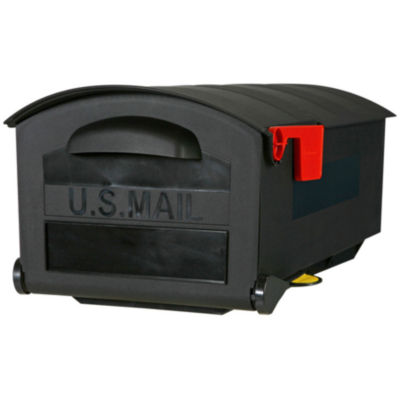 "Solar Group GMB515B01 21"" Black Polymer Post-MountMailbox"""