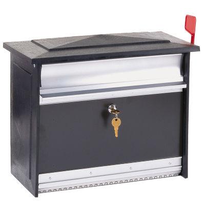 Solar Group MSK0000B Extra-Large Black Mailsafe Lockable Security Mailbox