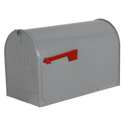 Solar Group ST20 Galvanized Steel Gray Rural Mailbox