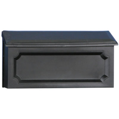 Solar Group WMH00B04 Black Windsor Horizontal WallMount Mailbox