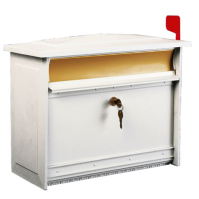 Solar Group MSK0000W Extra-Large White Mailsafe Lockable Security Mailbox