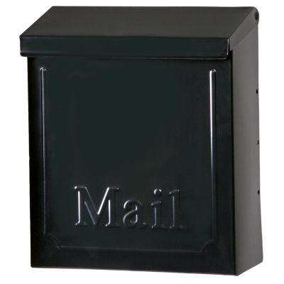 "Solar Group THVKB001 10.75"" Black Townhouse Wall Mount Mailbox"""