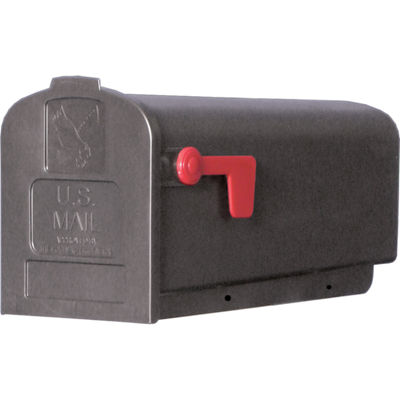 Solar Group PL10B Plastic Rural Black Mailbox