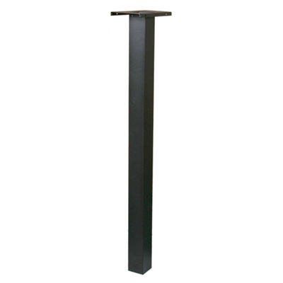 "Solar Group BP000B01 52.3"" Black Aluminum MailboxPost"""