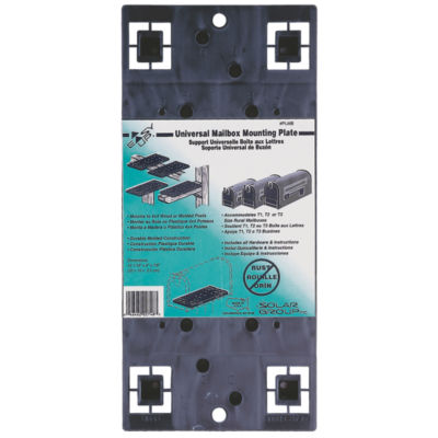 Solar Group PLMB0060 Gray Universal Mailbox Mounting Board