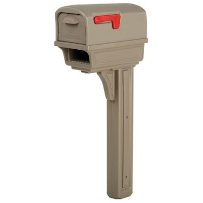 Solar Group GGC1M0000 Mocha All-In-One Mailbox & Post Combo