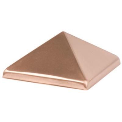 "Waddell 230 4"" X 4"" Copper Pyramid Post Cap"""
