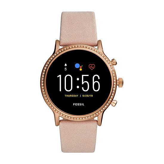 Fossil Smartwatches Gen 5 Julianna Hr Womens Multi-Function Pink Leather Smart Watch-Ftw6054