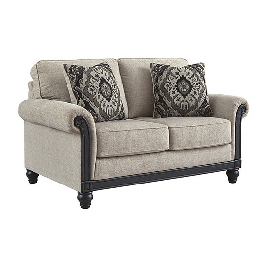 Signature Design by Ashley Benbrook Collection Roll-Arm Loveseat