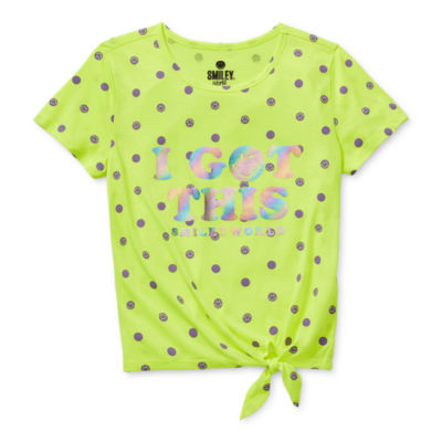 Smiley World Big Girls Crew Neck Short Sleeve Graphic T-Shirt
