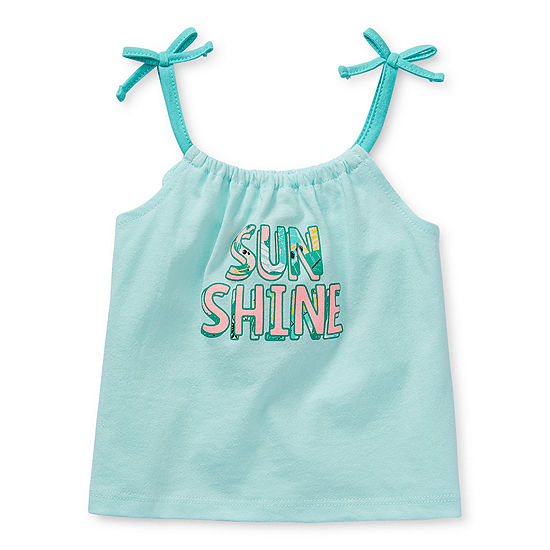 Okie Dokie Baby Girls Round Neck Tank Top