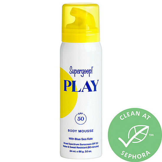 Supergoop! PLAY Body Mousse SPF 50 with Blue Sea Kale Mini