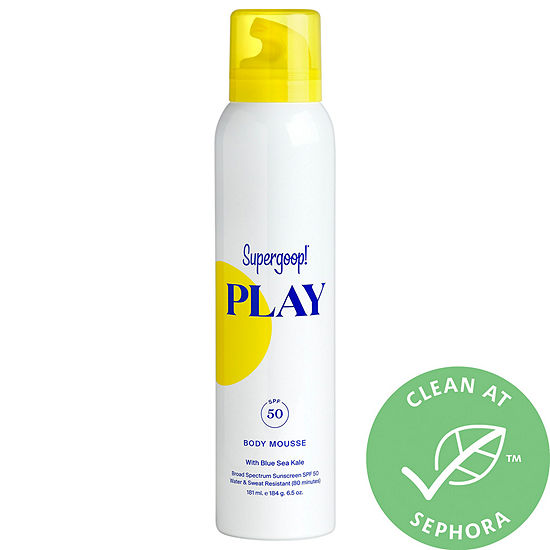 Supergoop! PLAY Body Mousse SPF 50 with Blue Sea Kale