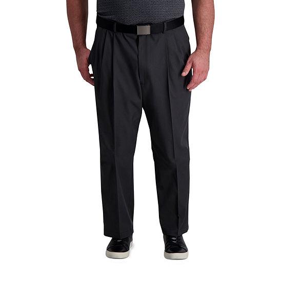 Haggar - Big Cool Right Performance Flex Classic Fit Pleated Pant