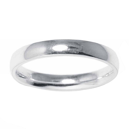 Silver Treasures Womens Sterling Silver Band