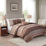 Home Expressions Darmouth Stripes Quilt Set