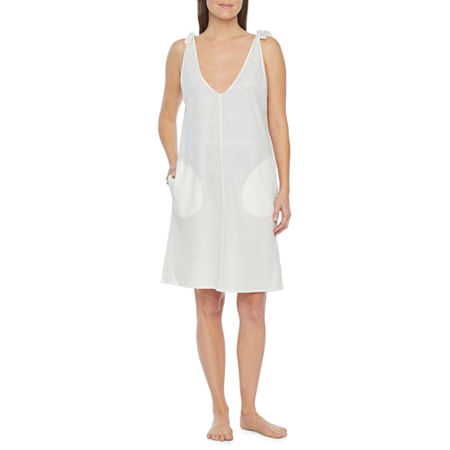 Peyton & Parker Womens Dress Swimsuit Cover-Up, Medium , White