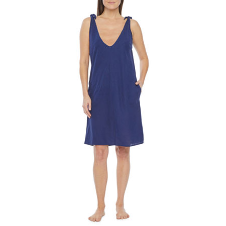 Peyton & Parker Womens Dress Swimsuit Cover-Up, X-small , Blue