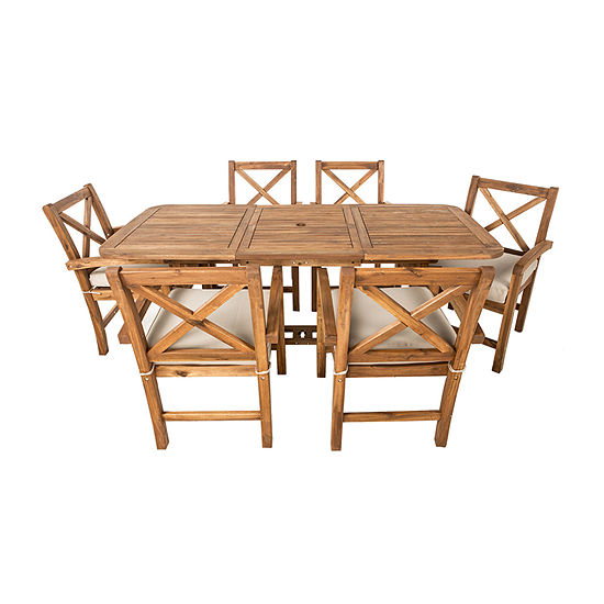 Catania Collection 7-Piece Patio Extendable Dining Set