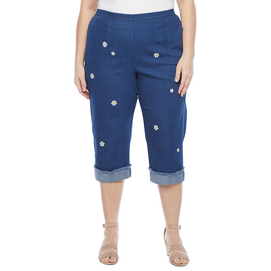 Alfred Dunner Lazy Daisy Plus Capris