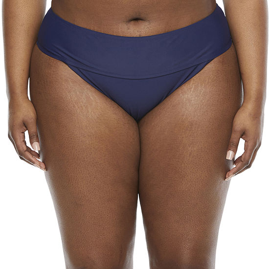 Peyton & Parker Womens Hipster Bikini Swimsuit Bottom Plus