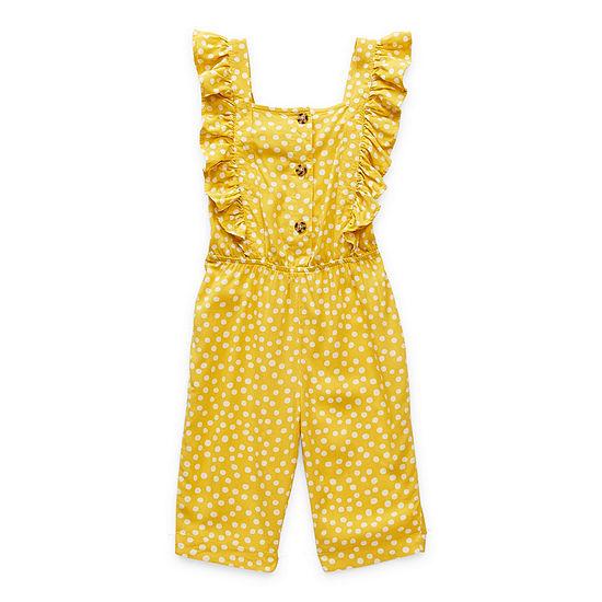 Okie Dokie Toddler Girls Short Sleeve Jumpsuit