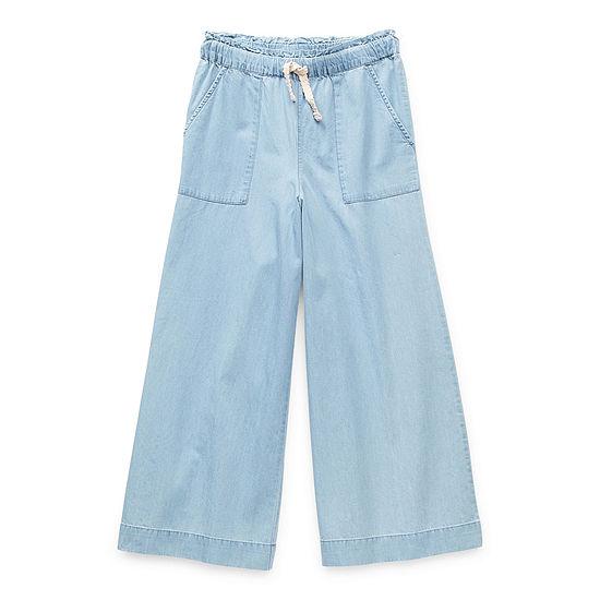 Arizona Little & Big Girls Wide Leg Pull-On Pants