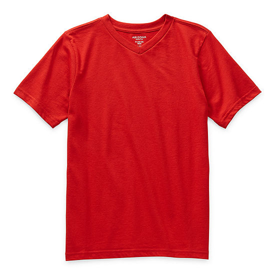 Arizona Little & Big Boys V Neck Short Sleeve T-Shirt
