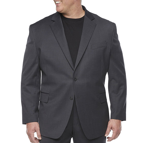 Stafford Washable Mens Classic Fit Suit Jacket-Big and Tall