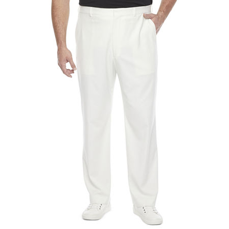 1940s Trousers, Mens Wide Leg Pants JF J.Ferrar 360 Mens Classic Fit Suit Pants - Big and Tall 42 34 Beige $29.99 AT vintagedancer.com